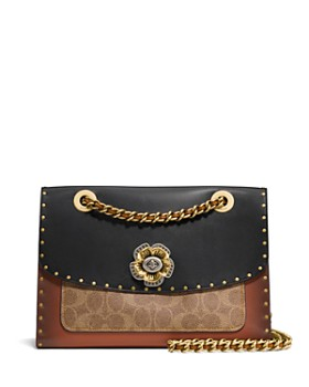 COACH - Parker Mixed Media Convertible Shoulder Bag