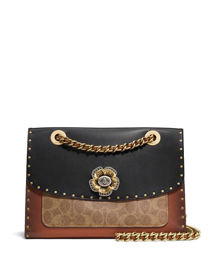 COACH - Parker Mixed Media Convertible Shoulder Bag