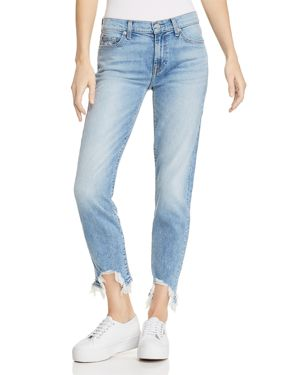 7 For All Mankind Roxanne Ankle Straight Jeans in Light Gallery Row 3 2961716