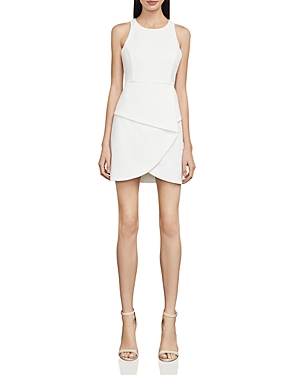 Bcbgmaxazria Cutout Crepe Mini Dress