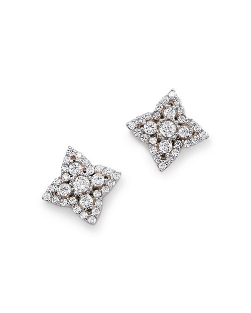 Bloomingdale's - Diamond Clover Earrings in 14K White Gold, 0.50 ct. t.w. - 100% Exclusive