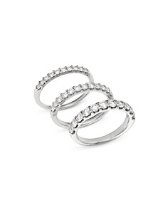 Bloomingdale's - Diamond Shared Prong Band in Platinum, 0.25 ct. t.w. - 1.0 ct. t.w. - 100% Exclusive