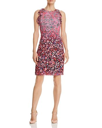 Elie Tahari - Carelle Ombré Floral-Print Sheath Dress