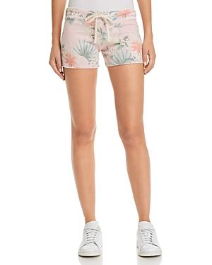 Sundry Tropical Print Drawstring Shorts