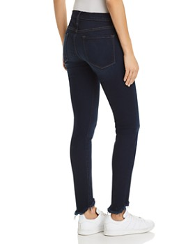 FRAME - Le Skinny De Jeanne Sweetheart Frayed-Hem Jeans in Longstreet