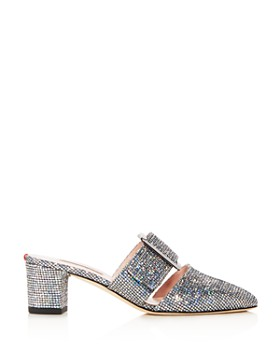 SJP by Sarah Jessica Parker - Women's Hita Glitter Block Heel Mules