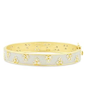 Freida Rothman Fleur Bloom Pave Hinged Bracelet-Jewelry & Accessories