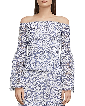 Bcbgmaxazria Kamryn Off-the-Shoulder Lace Top
