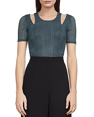 Bcbgmaxazria Gwenyth Cutout Lace Bodysuit