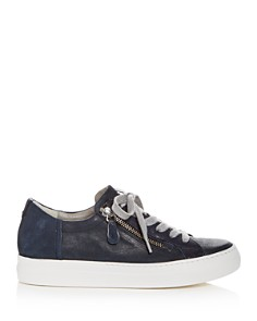 Paul Green - Women's Orleans Tonal Leather Lace Up Sneakers