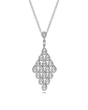 "PANDORA - Sterling Silver Cascading Glamour Pendant Necklace, 31.5"""