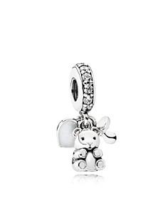PANDORA Sterling Silver & Cubic Zirconia Baby Treasures Charm - Bloomingdale's_0