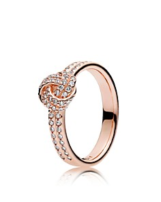 PANDORA Rose & Cubic Zirconia Sparkling Love Knot Ring - Bloomingdale's_0