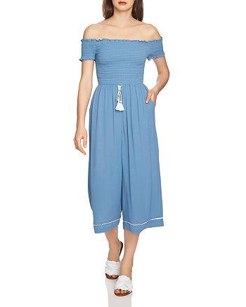 1.STATE - Off-the-Shoulder Smocked Jumpsuit
