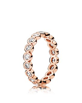 Pandora - Rose-Tone Sterling Silver Alluring Brilliant Ring