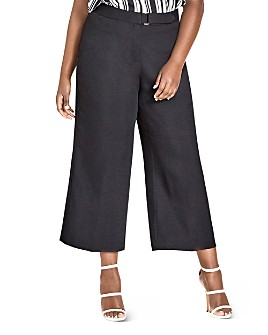 City Chic Plus - Elegant Tab-Front Culotte
