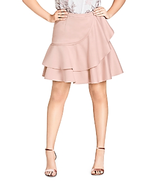 City Chic Plus Frill Me Tiered Ruffle Skirt