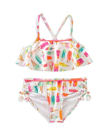 kate spade new york - Girls' Ice Pop & Ice Cream Print 2-Piece Swimsuit - Little Kid