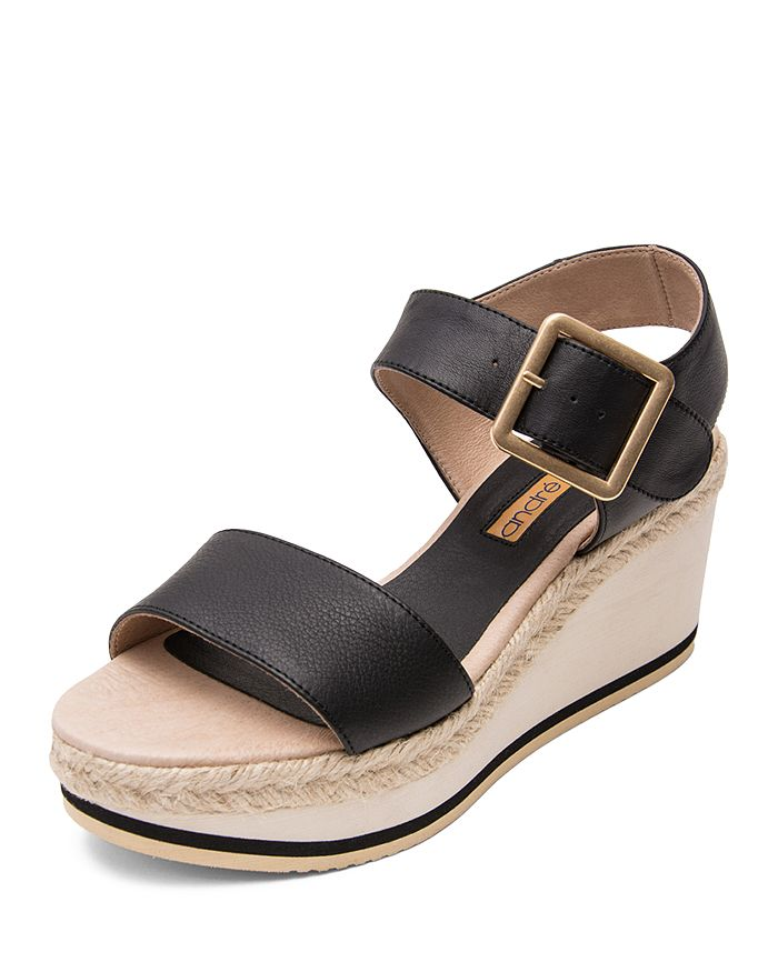 Andre Assous - Women's Carmela Leather Platform Wedge Sandals