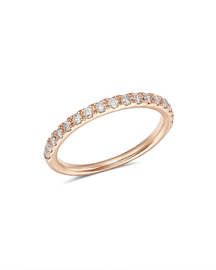Bloomingdale's - Diamond Shared Prong Stacking Band in 14K Rose Gold, 0.25 ct. t.w. - 100% Exclusive