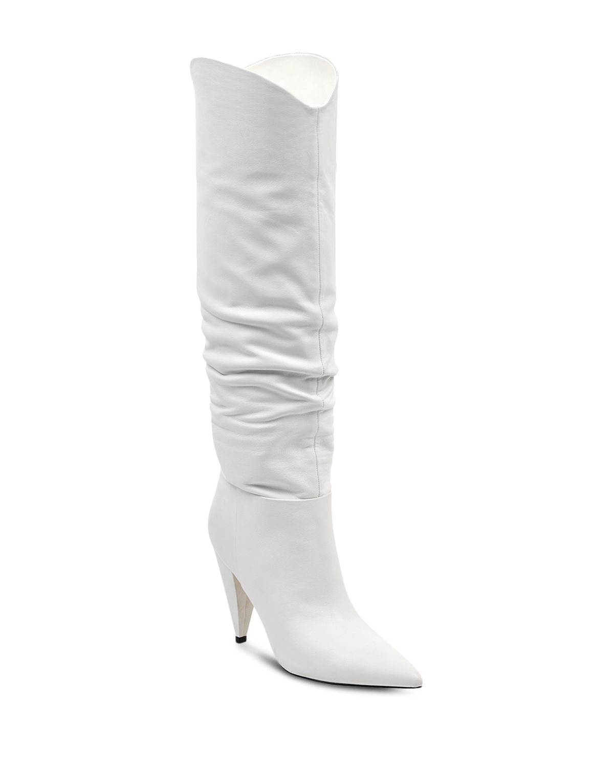 MARC FISHER Women's Hanny Leather Slouchy Tall Boots