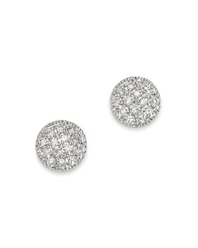 Moon & Meadow - Diamond Circle Stud Earrings in 14K White Gold, 0.08 ct. t.w. - 100% Exclusive