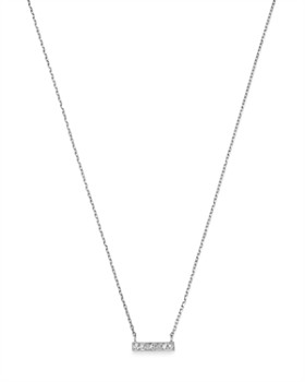 Moon & Meadow - Diamond Bar Pendant Necklace in 14K White Gold, 0.02 ct. t.w. - 100% Exclusive