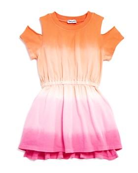 Splendid - Girls' Dip-Dye Cold-Shoulder Dress - Little Kid, Big Kid