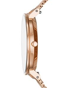 Skagen - Hald Rose Gold-Tone Silk-Mesh Watch, 34mm