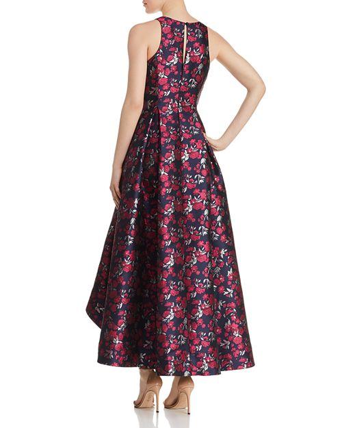 Aidan by Aidan Mattox Floral Jacquard High/Low Ball Gown ...