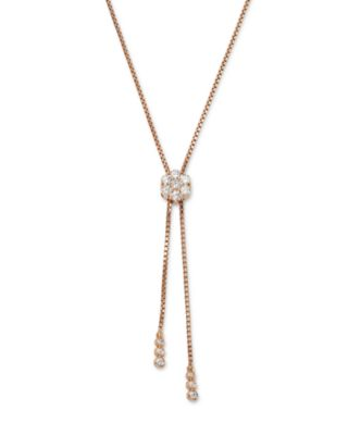 Diamond Flower Bolo Necklace in 14K Rose Gold, 0.85 ct. t.w. - 100% Exclusive