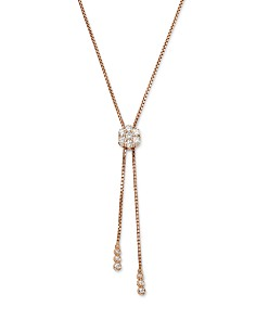 Bloomingdale's - Diamond Flower Bolo Necklace in 14K Gold, 0.85 ct. t.w. - 100% Exclusive