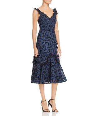 Adriana Broderie-Anglaise Dress, Blueberry