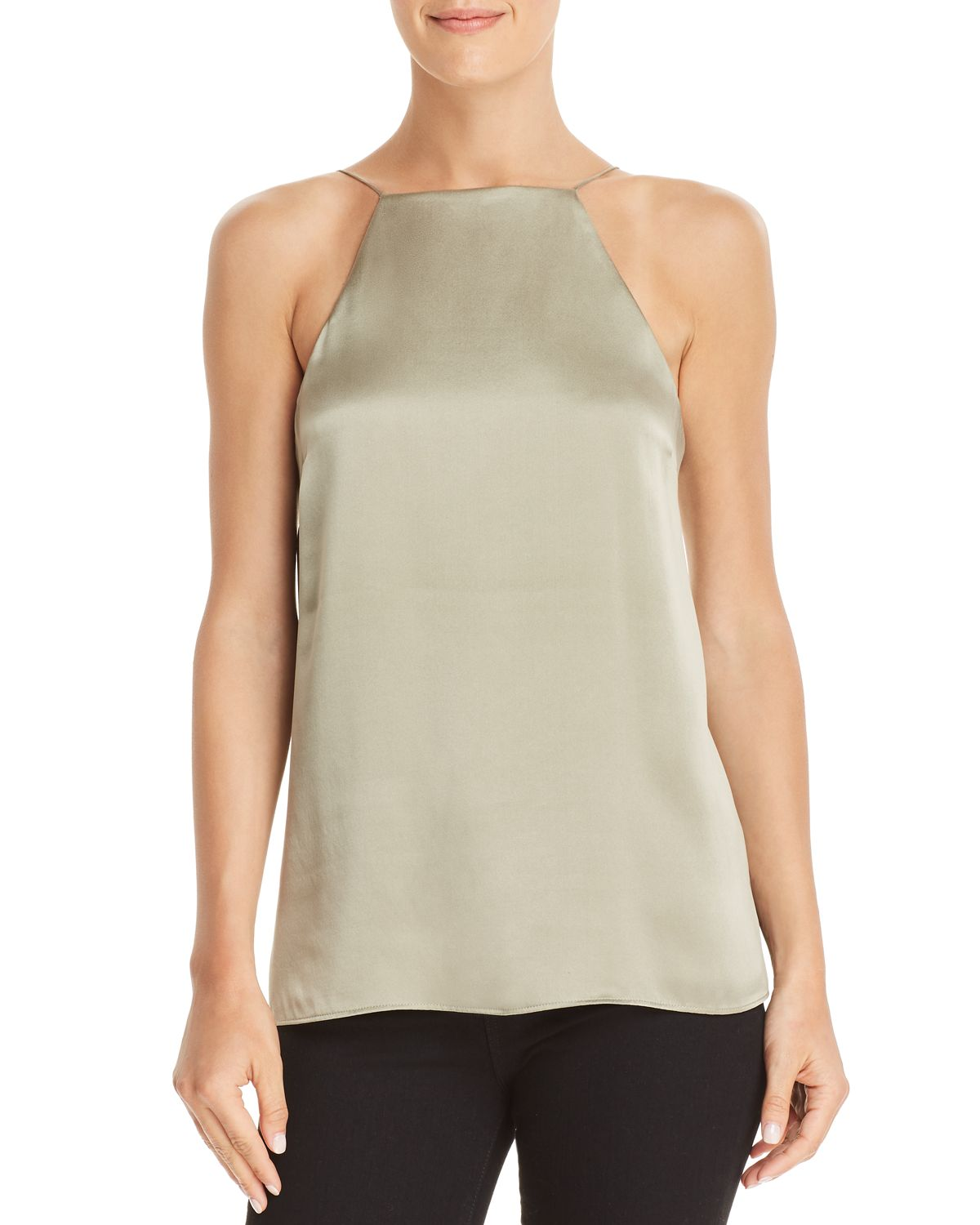 Vera Ruffled Criss Cross Detail Silk Top by Cami Nyc