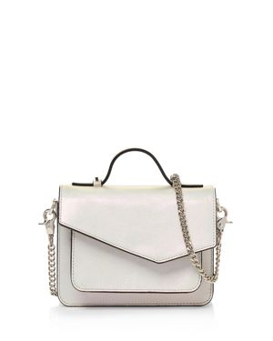 MINI COBBLE HILL CALFSKIN LEATHER CROSSBODY BAG - WHITE