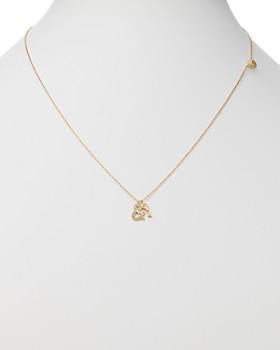 "SUEL - Blackened 18K Yellow Gold Key & Heart Lock Diamond Necklace, 20"""