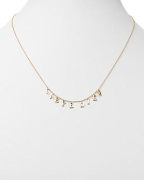 "SUEL - 14K Yellow Gold Carpe Diem Necklace, 20"""