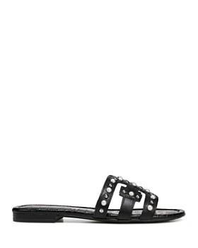 Sam Edelman - Women's Bay 2 Leather Embellished Slide Sandals