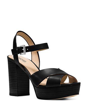 b75ac83ffd2 MICHAEL Michael Kors Women s Divia Leather Platform Sandals ...