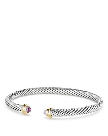 David Yurman - Cable Kids Birthstone Bracelet with Amethyst & 14K Gold