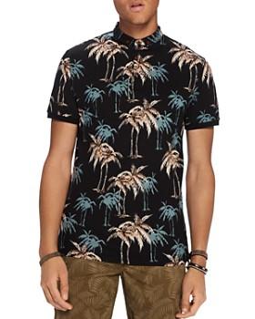 Scotch & Soda - Palm Print Polo Shirt