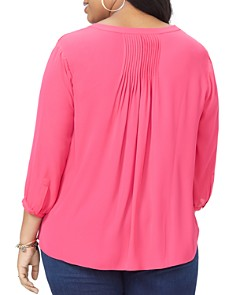 NYDJ Plus - Pleat-Back Blouse