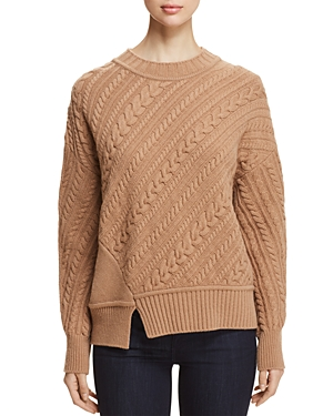 Weekend Max Mara Grolla Virgin Wool Asymmetric Cable-Knit Sweater