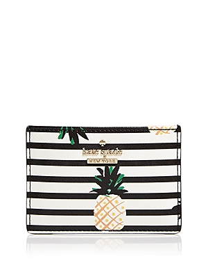 KATE SPADE KATE SPADE NEW YORK CAMERON STREET PINEAPPLES LEATHER CARD CASE