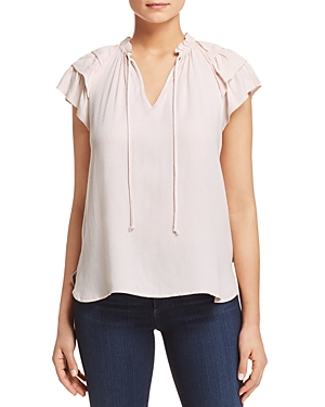 Scotch & Soda Tiered Ruffle Sleeve Top