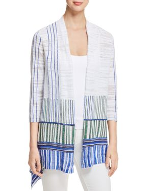 Nic+Zoe Higher Ground Stripe Cardigan, Multi