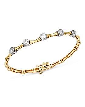 Bloomingdale's - Diamond Five Bezel Bracelet in 14K White & Yellow Gold, 1.0 ct. t.w. - 100% Exclusive