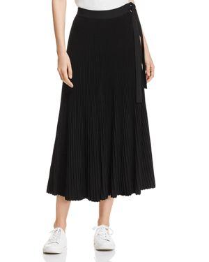 Weekend Max Mara Nias Pleated Side-Tie Midi Skirt