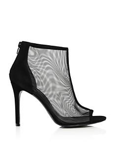 Charles David - Women's Court Mesh & Suede Open Toe Booties
