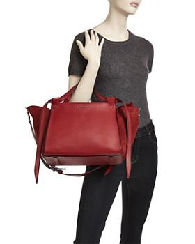 ELENA GHISELLINI - Usonia Medium Leather & Suede Satchel